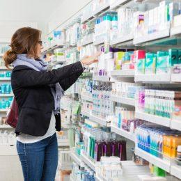 Woman shopping at pharmacy