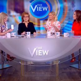 "Candace Cameron Bure returns to ""The View"" with Whoopi Goldberg, Sarah Haines, Joy Behar, Sonny Hostin, and Meghan McCain"