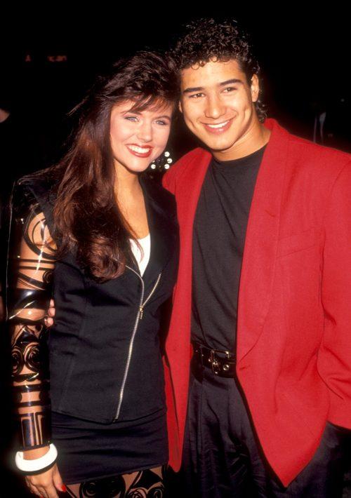 Tiffani Thiessen and Mario Lopez 1999
