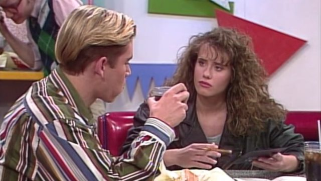"""Tori on """"Saved by the Bell,"""" played by Leanna Creel, in 1992"""