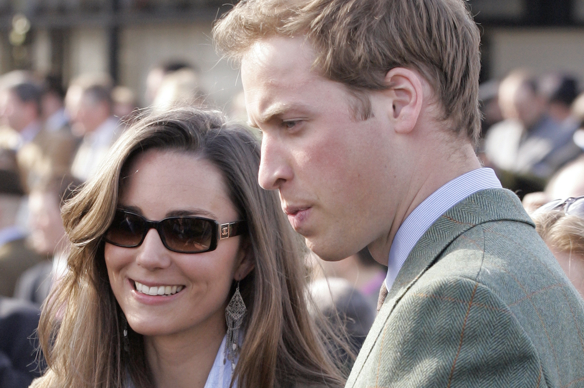 Kate Middleton and Prince William attend day 1 of the Cheltenham Horse Racing Festival on March 13, 2007 in Cheltenham, England.