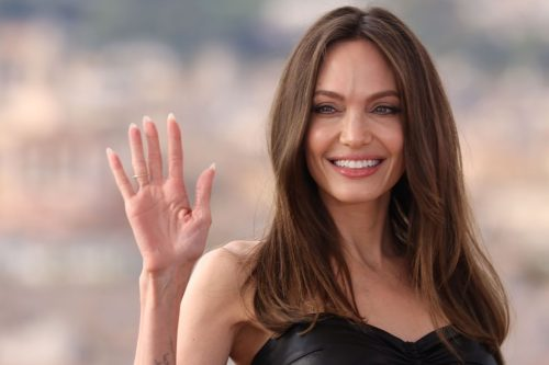 Angelina Jolie at a photocall for
