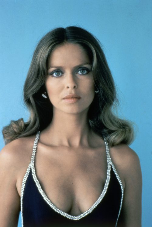 Barbara Bach on the set of