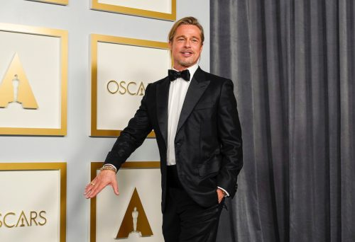 Brad Pitt at the Oscars in April 2021