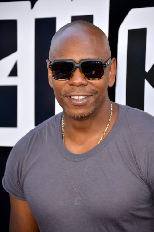 """Dave Chappelle at the premiere of """"BlacKkKlansman"""" in 2018"""