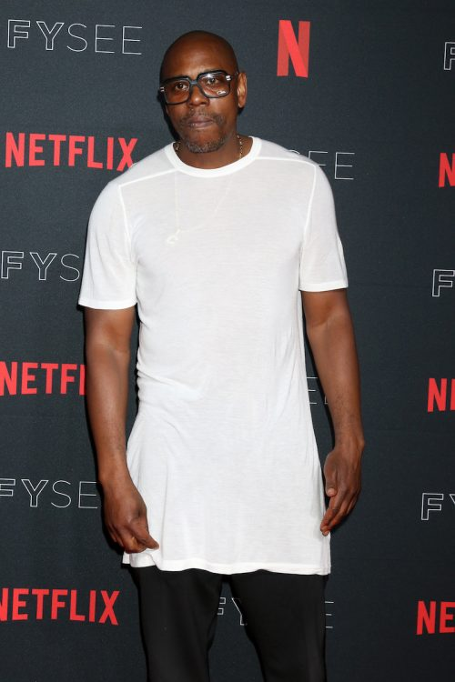 Dave Chappelle at a Netflix event in 2018