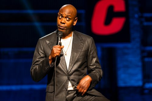 """Dave Chappelle performing his comedy special """"The Closer"""""""