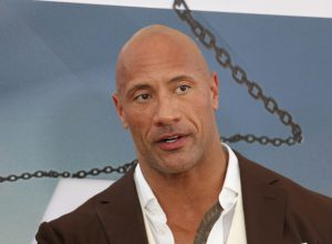"""Dwayne Johnson at the premiere of """"Fast & Furious Presents: Hobbs & Shaw"""" in July 2019"""