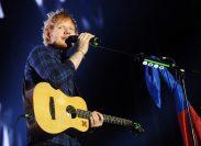Ed Sheeran performing in Prague in February 2015