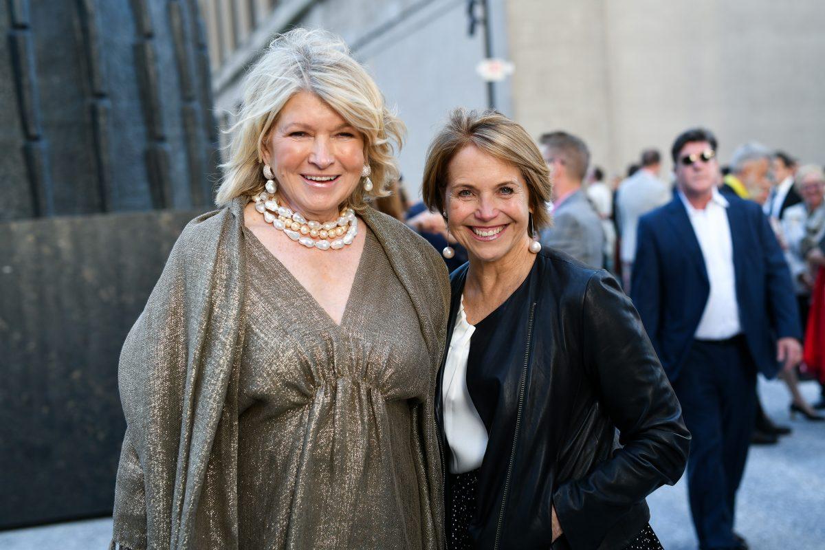 Martha Stewart and Katie Couric
