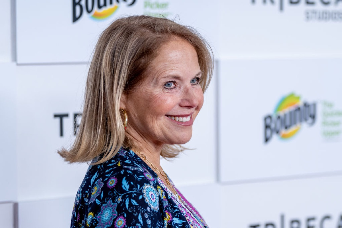katie couric on the red carpet