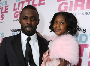 """Idris and Isan Elba at the premiere of """"Tyler Perry's Daddy's Little Girls"""" in 2007"""
