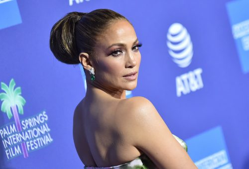Jennifer Lopez at the PSIFF Awards Gala in January 2020