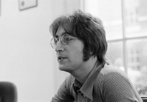 John Lennon being interviewed in London in 1971