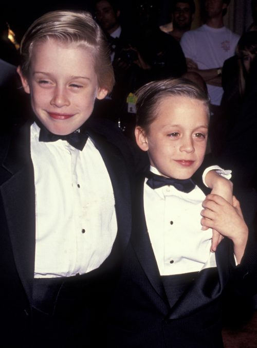 Macaulay and Kieran Culkin at the Fifth Annual American Comedy Awards in 1991