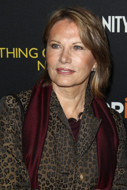 Maud Adams at the premiere of