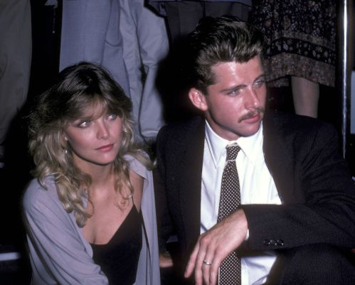 """Michelle Pfeiffer and Maxwell Caulfield at the """"Grease 2"""" premiere party in 1982"""