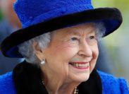 Queen Elizabeth at QIPCO British Champions Day at Ascot Racecourse in October 2021