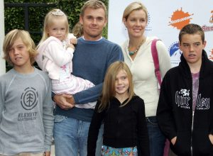 Ricky Schroder and family on Nickelodeon red carpet