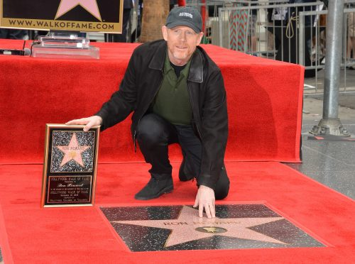 Ron Howard at his Hollywood Walk of Fame ceremony in 2015