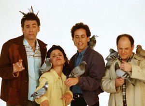Michael Richards, Julia Louis-Dreyfus, Jerry Seinfeld, and Jason Alexander in Seinfeld