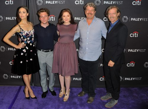 Emmy Rossum, Jeremy Allen White, Emma Kenney, John Wells, and William H. Macy at PaleyFest Fall TV Previews Los Angeles in 2017
