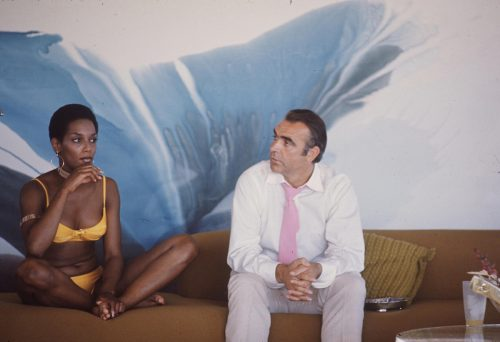 Trina Parks and Sean Connery on the set of