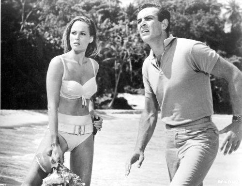 """Ursula Andress and Sean Connery in """"Dr. No"""""""
