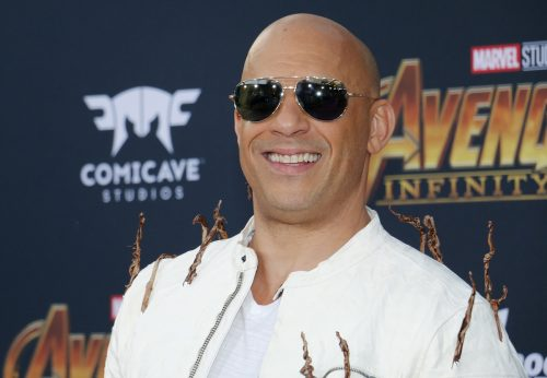 """Vin Diesel at the premiere of """"Avengers: Infinity War"""" in April 2018"""