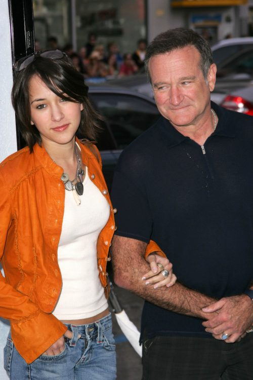 Zelda and Robin Williams at the premiere of