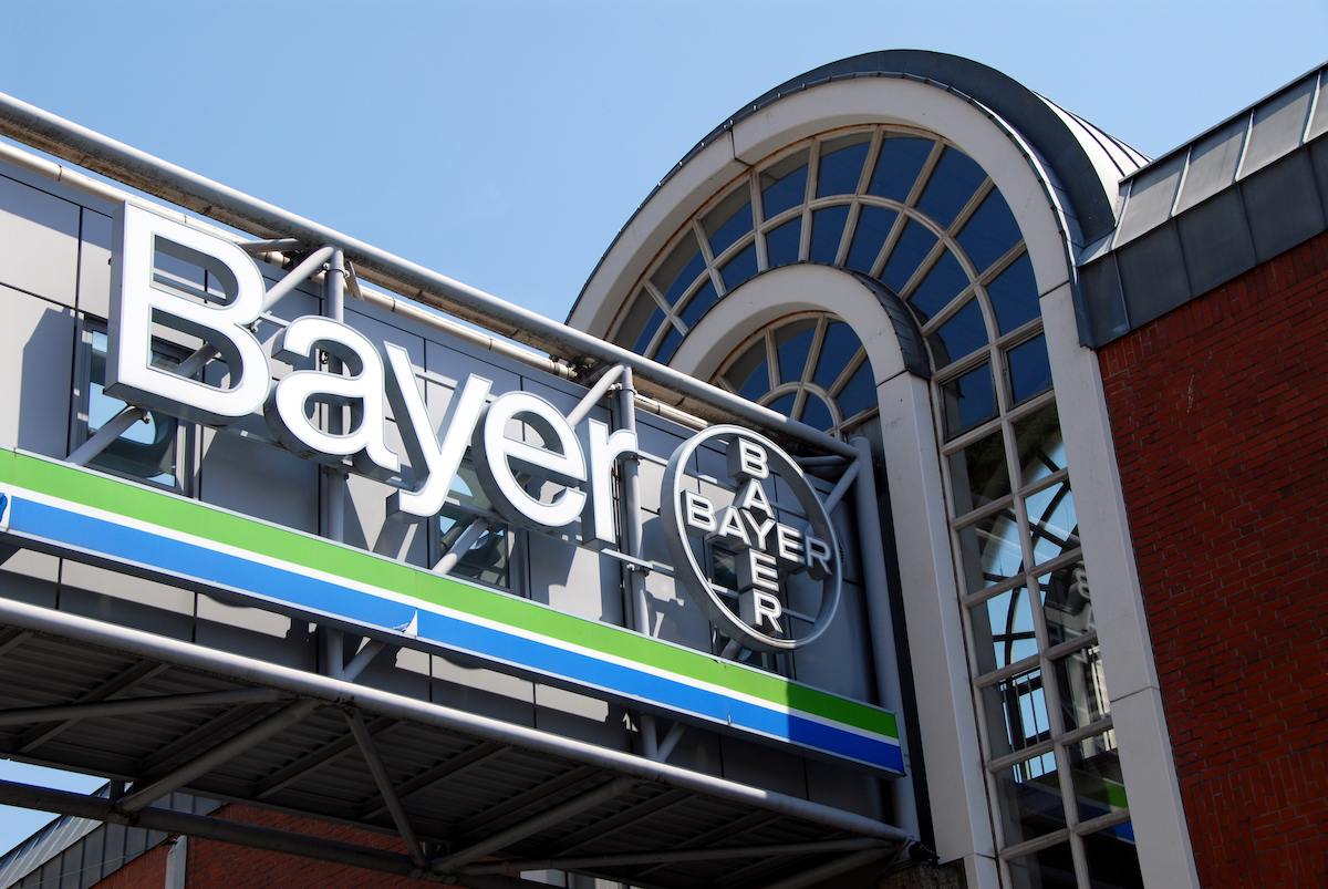Logo of Bayer, a German multinational pharmaceutical and life science company