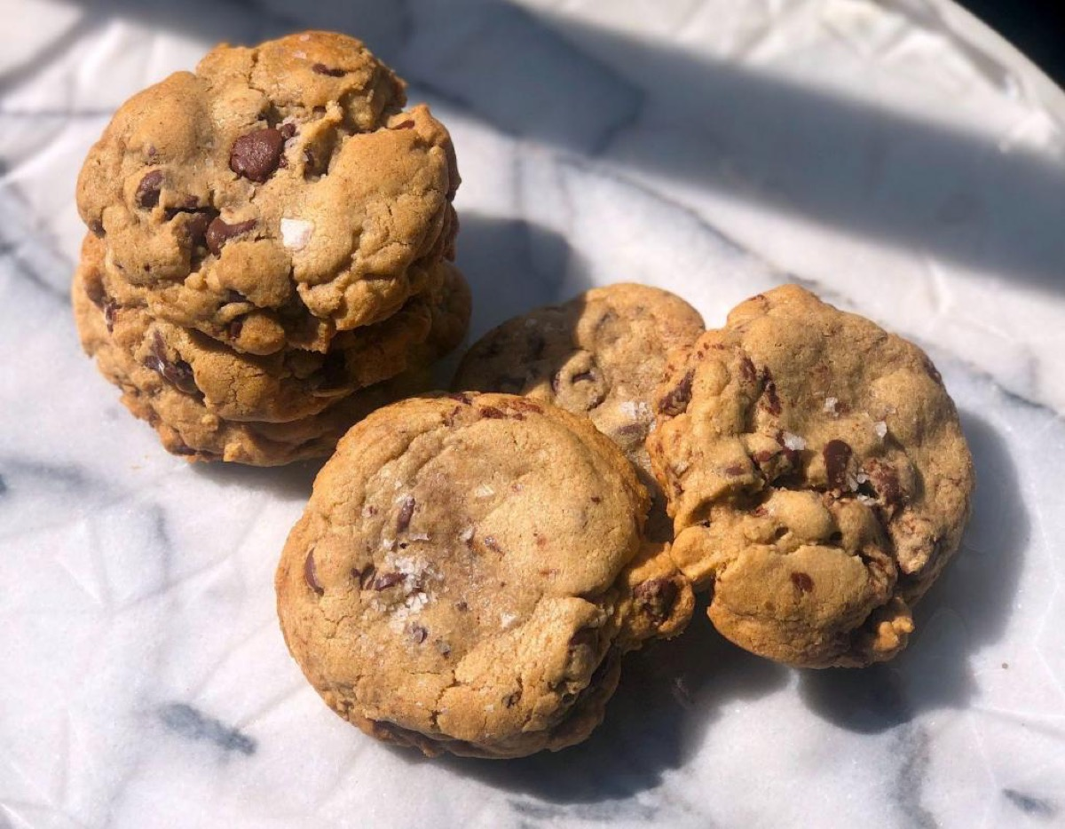 cookies on marble surface