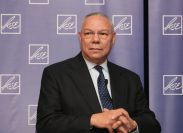 Kiev, Ukraine - 10.24.2007. Portrait of former US Secretary of State Colin Powell at a conference.
