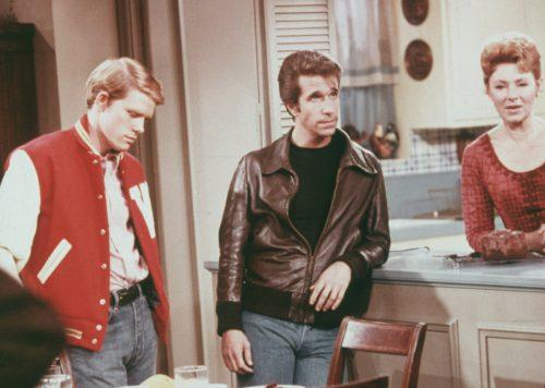 "Ron Howard, Henry Winkler, and Marion Ross on ""Happy Days"""