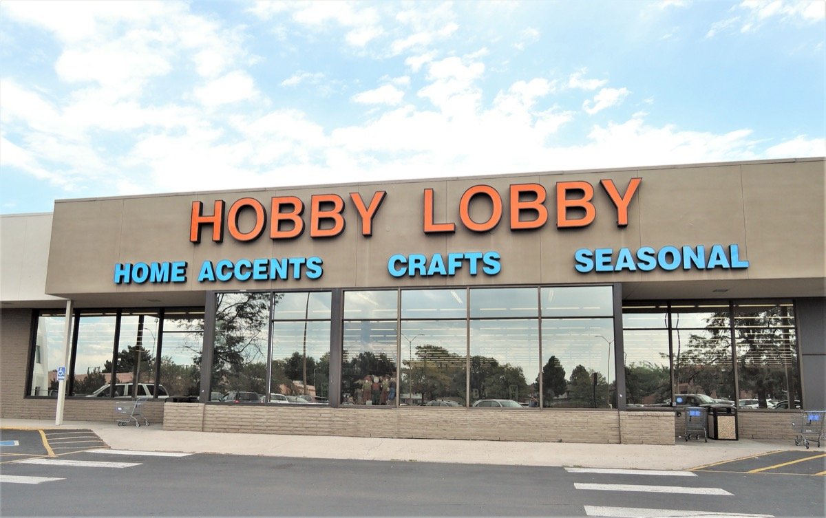 exterior of a hobby lobby store in the daytime