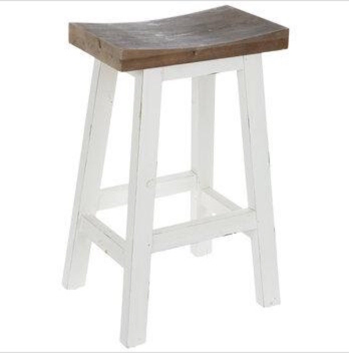 white stool with brown seat from hobby lobby