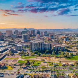 The skyline of Phoenix, Arizona