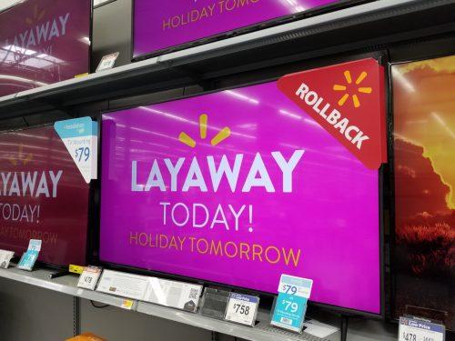 walmart layaway tv