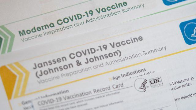Moderna and Janssen Johnson and Johnson vaccines summary by CDC.