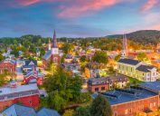 The skyline of Montpelier, Vermont