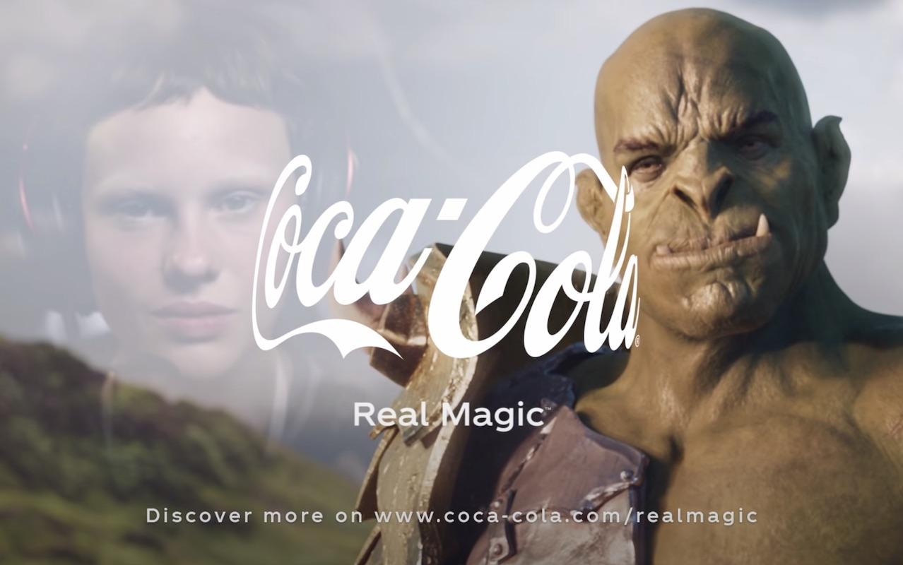 New Coke Logo in New Coke ad 2021