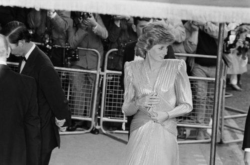 Princess Diana at View To A Kill premiere