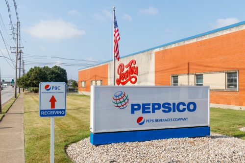 Louisville - Circa July 2019: Pepsi Beverages Company Signage. Pepsi and PepsiCo is one of the largest beverage producers in the world IV