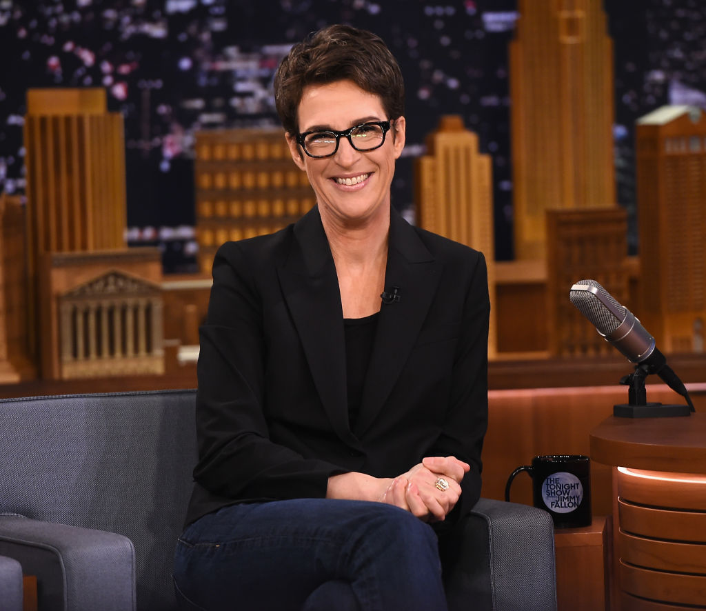 Rachel Maddow appearing on the Tonight Show