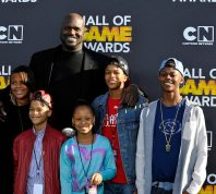 Taahirah O'Neal, host Shaquille O'Neal, Shareef O'Neal, Me'arah O'Nea, Shaqir O'Neall and Myles O'Neal attends the Third Annual Hall of Game Awards hosted by Cartoon Network at Barker Hangar on February 9, 2013 in Santa Monica, California.
