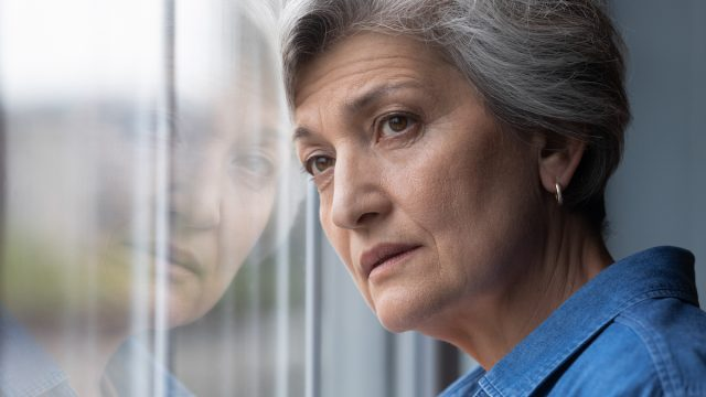 Despondent middle aged woman