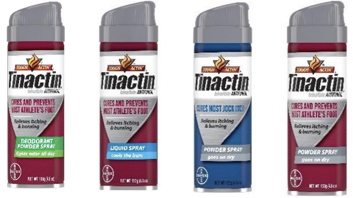 Tinactin products affected by Bayer Oct. 2021 recall