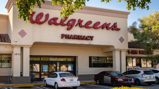 Pompano Beach, Florida, USA - January 06, 2019 : Walgreens store exterior and sign. Walgreens is the largest drug retailing chain in the United States.