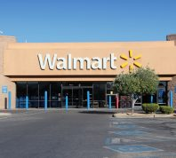 RIDGECREST, USA - APRIL 13, 2014: Walmart store in Ridgecrest, California. Walmart is a retail corporation with 8,970 locations and revenue of US$ 469 billion (FY 2013).
