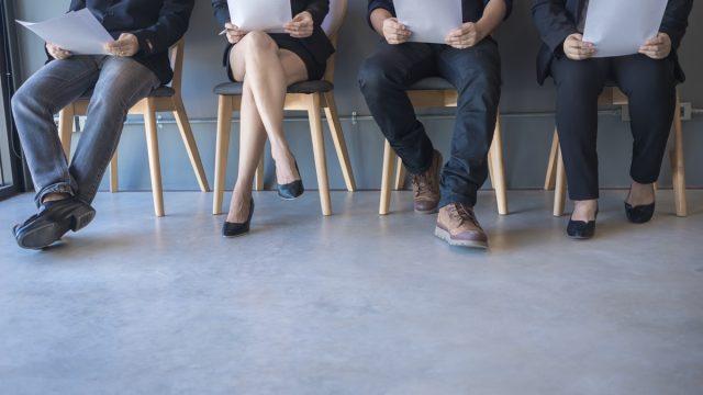People applying to a job